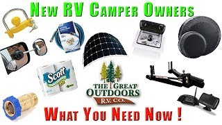 Download New Owners RV Camper Gear Supplies Top Item Essentials For Newbies Video