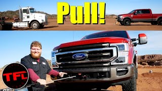 Download Can the New 2020 Ford Super Duty Tremor Factory Winch Pull a Semi? Video