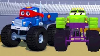 Download Carl the Super Truck and the Monster Truck Hulk in Car City | Cars &Trucks Cartoons fo Kids 🚗️ Video
