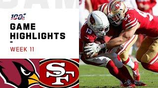 Download Cardinals vs. 49ers Week 11 Highlights | NFL 2019 Video
