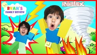 Download Family Game Night! Let's Play Roblox Natural Survival Disaster with Ryan's Family Review Video