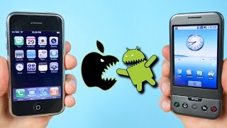 Download First iPhone vs First Android Phone! (iOS 1.0 vs Android 1.0) Video