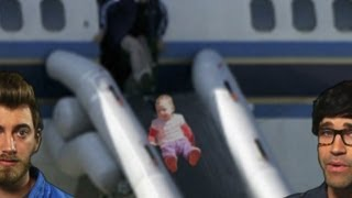 Download Man Opens Plane Hatch for Baby Video