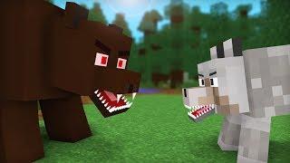 Download Bear vs Wolf Life: Full Animation I - Minecraft Animation Video
