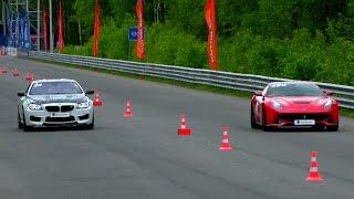 Download BMW M6 vs Ferrari F12 Berlinetta vs BMW M4 vs Audi S6 Video