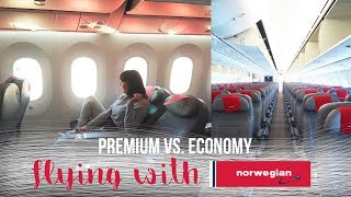 Download FLYING WITH NORWEGIAN: PREMIUM VS. ECONOMY | LGW - LAX Video