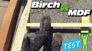 Download Birch vs MDF... Better Strength? Is Plywood or Fiberboard Strongest Wood For Subwoofer Boxes? Video