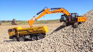 Download RC ADVENTURES - 1/12 Scale Earth Digger 4200XL Excavator & 1/14 8x8 Armageddon Dump Truck Video