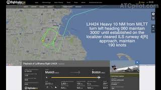 Download [REAL ATC] LUFTHANSA A350 - ″FUEL LOW SITUATION″ in Boston - ″We have to declare Emergency″ Video