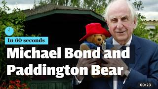 Download Michael Bond and Paddington Bear - in 60 seconds Video