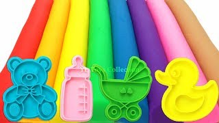 Download Learn Colors with 8 Color Play Doh Modelling Clay and Cookie Molds I Surprise Toys Yowie Video