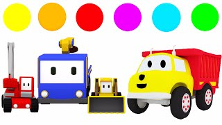 Download Learn Colors with Tiny Trucks and Ethan The Dump Truck | Educational cartoon for toddlers Video