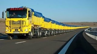 Download The World's Longest Truck - Road Train in Australia Video