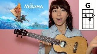 Download How Far I'll Go Moana (Ukulele Tutorial) Video
