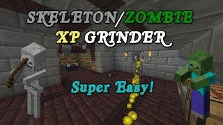 Download Minecraft Tutorial - (FAST & EFFICIENT) Skeleton/Zombie XP Farm Video