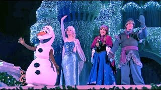 Download Frozen Holiday Wish castle lighting show debut - Elsa, Anna, Olaf, Kristoff at Walt Disney World Video