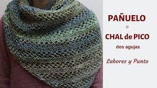 Download Como tejer un pañuelo, cuello o pico a dos agujas- Punto capellán- Labores y Punto Video