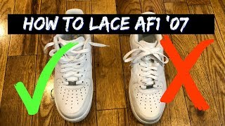 Download How to Lace Nike Air Force One's Loosely Video