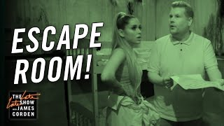 Download James Corden & Ariana Grande Visit an Escape Room Video
