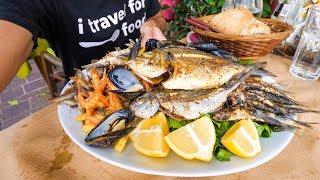 Download HUGE Seafood Platter in Crete, Greek Islands! Video