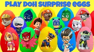 Download 15 Paw Patrol and PJ Mask Play Doh Surprise Eggs with Fizzy and Phoebe Video