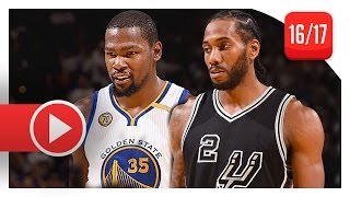 Download Kawhi Leonard vs Kevin Durant SUPERSTARS Duel Highlights (2016.10.25) Warriors vs Spurs - SICK Video