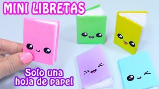 Download MINI LIBRETAS CON SOLO UNA HOJA DE PAPEL - DIY REGRESO A CLASES Video