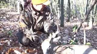 Download Virginia Public Land buck kill up close, almost runs hunter over. Video