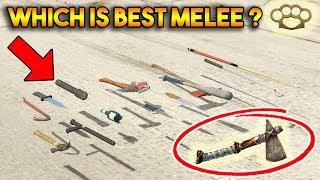 Download GTA 5 ONLINE : WHICH IS BEST MELEE WEAPON? (FIST, STONE HATCHET, BASEBALL BAT, BROKEN BOTTLE ETC.) Video