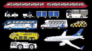 Download Airport Vehicles - Buses, Airplane, Baggage Cart & More - The Kids' Picture Show (Fun & Educational) Video