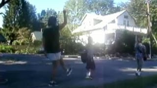 Download Back to School: Mom Dances in 'Celebration' at Kids' Bus-Stop Video