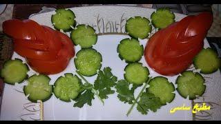 Download طريقه تزين الطماطم والخيار مطبخ ساسى Video