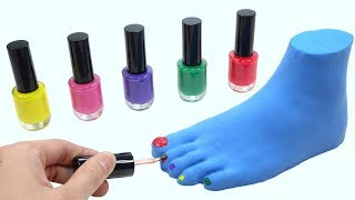 Download Learn Colors With Nail Polish Foot Fun Toys Nursery Rhymes How To Make For Kids Video