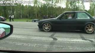 Download Ferrari 458 Italia vs BMW 3-series E30 Turbo E85-powered. Video