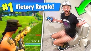 Download WINNING Fortnite... On the TOILET!? Video