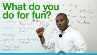 Download Learn English - What do you do for fun? Video
