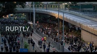 Download LIVE: Protesters opposing extradition bill flood Hong Kong streets Video