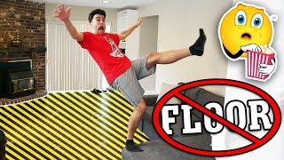 Download TRY NOT TO TOUCH THE FLOOR CHALLENGE! (Impossible Floor is Lava Challenge) Video