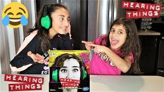 Download Kids playing Hearing Things funny game! sisters fun video Video