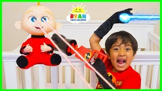 Download Ryan babysits Jack Jack from Disney Pixar Incredibles 2 Pretend Play!!! Video