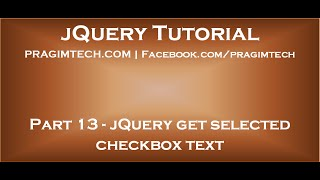 Download jQuery get selected checkbox text Video