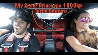 Download Sister DRIVES my 1000HP Turbo CAMARO! Video
