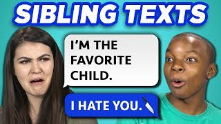 Download 10 FUNNY BROTHER SISTER TEXTS w/ Teens & College Kids (REACT) Video