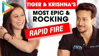 Download ROCKING: Tiger Shroff & Krishna Shroff's Rapid Fire On Salman, Hrithik, Love & Biopics Video