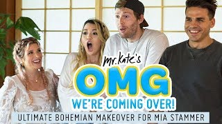 Download Ultimate Bohemian Living Room Design for Mia Stammer | OMG We're Coming Over | Mr. Kate Video
