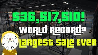 Download GTA Online Biggest Sale Ever $36,517,510 One Day! World Record? Selling Everything CEO, MC Video