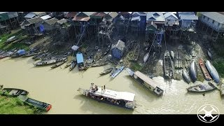 Download Kompong Phluk Floating village by Drone Video