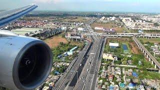Download Landing in Bangkok Airport. Boeing 777-200. Thai Airways Flight TG322. Rolls Royce Trent Engine Video