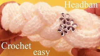 Download Como tejer a Crochet una diadema en 3D con trenzas gruesas reversibles - How to Crochet braids Video