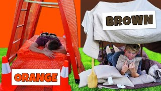 Download Using ONLY ONE Color to build Apocalypse Survival Shelters! *OVERNIGHT CHALLENGE* Video